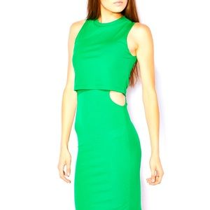 Cut-Out Ribbed Midi Bodycon Dress size 10